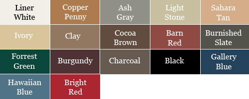 Select a Roof Color