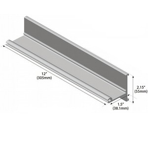 S-5 ColorGard Snow Rail 8ft (Un-punched) Includes Color strip